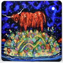 Placemat: Highland Coo Moon