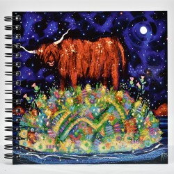 Wiro Notebook - theClassics: Highland Coo Moon