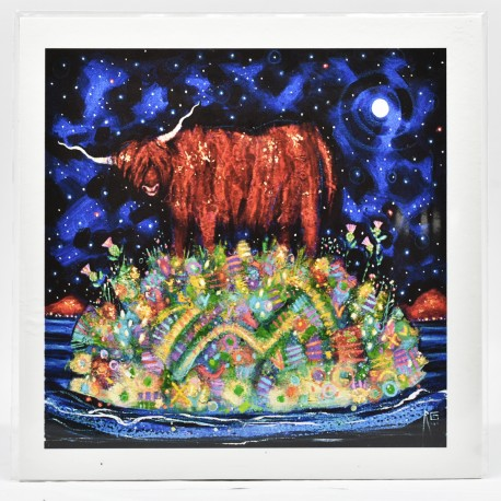 Small Print - theClassics: Highland Coo Moon
