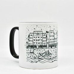 Black Handled Mug: Leith Shore