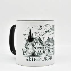 Black Handled Mug: Edinburgh Dream