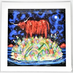 Large Print - theClassics: Highland Coo Moon