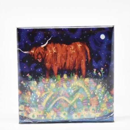 Fridge Magnets - theClassics: Highland Coo Moon