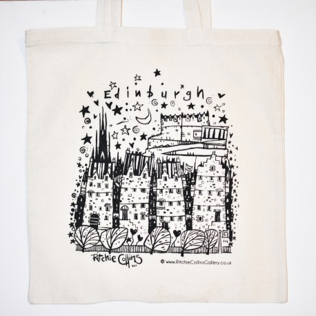 Small Tote Bag - theClassics: Edinburgh Black and White