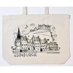 Large Tote Bag: Edinburgh Night