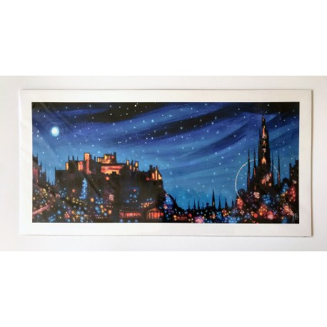 Long Print: Edinburgh Lights