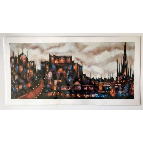 Long Print: Abstract Edinburgh