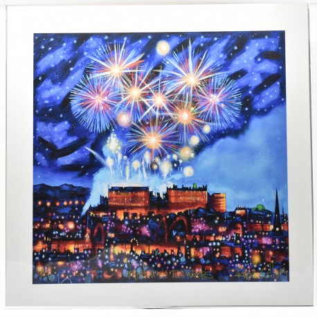Large Print - Edinburgh Fireworks