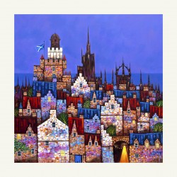 Medium print: Royal Mile Dusk